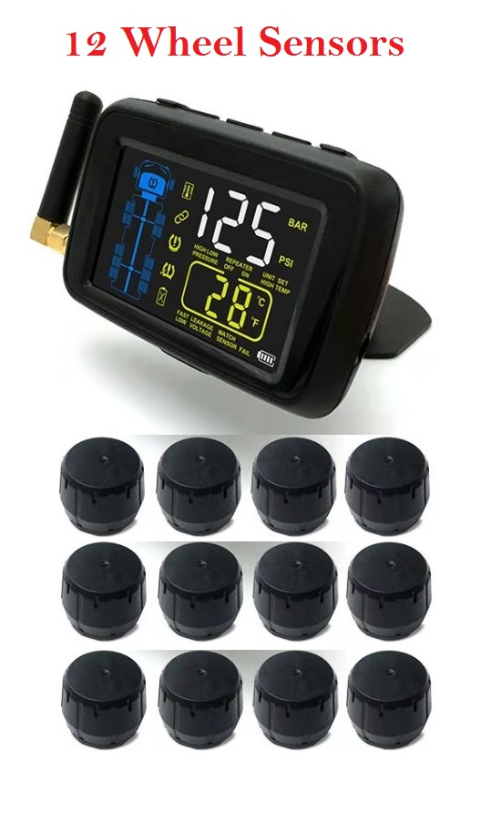 SYKIK U901RV 10, TPMS for Trucks and RVs with 3 year US warranty