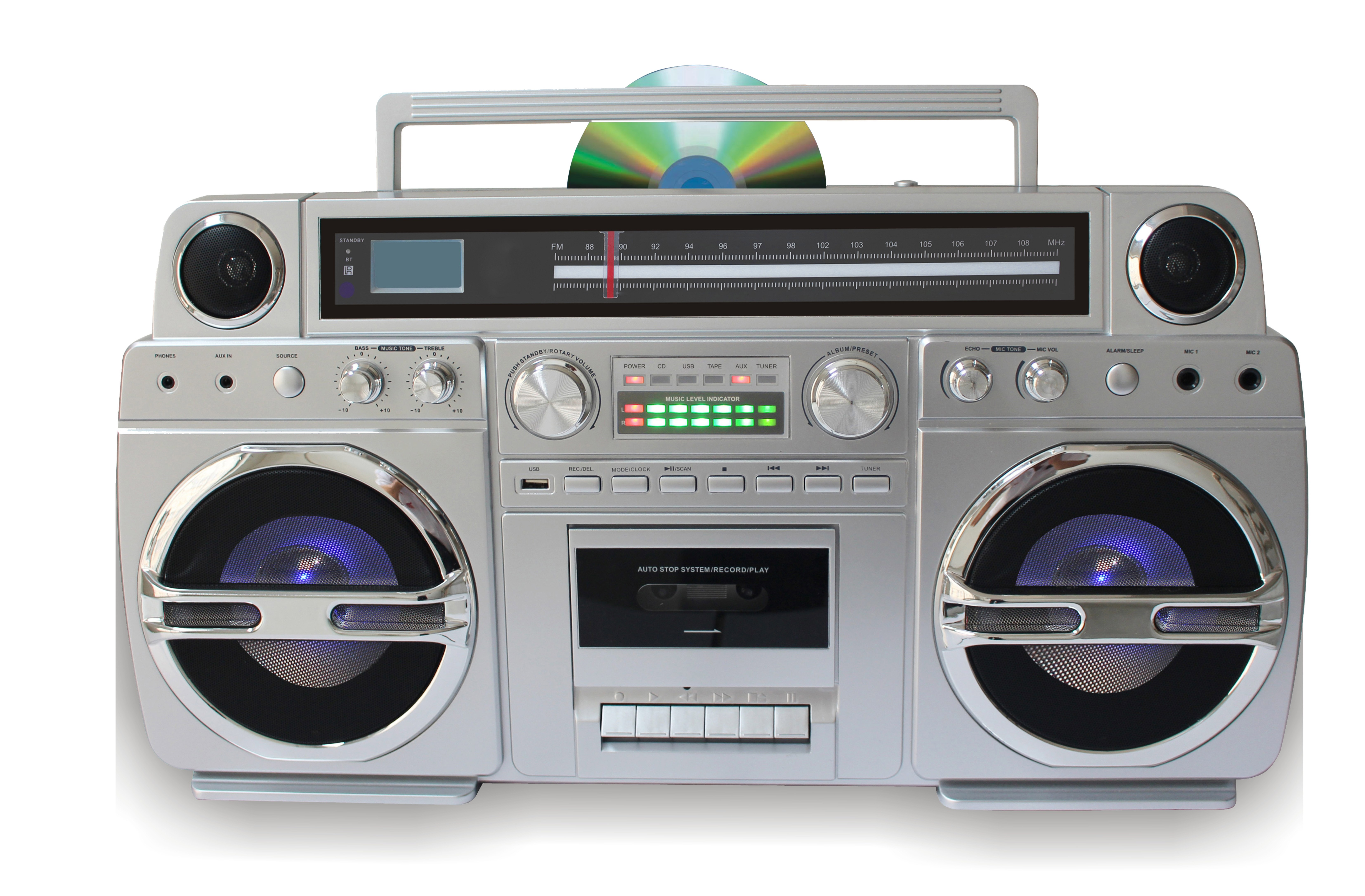 "TechPlay ""MONSTER"" 1980s style boombox"