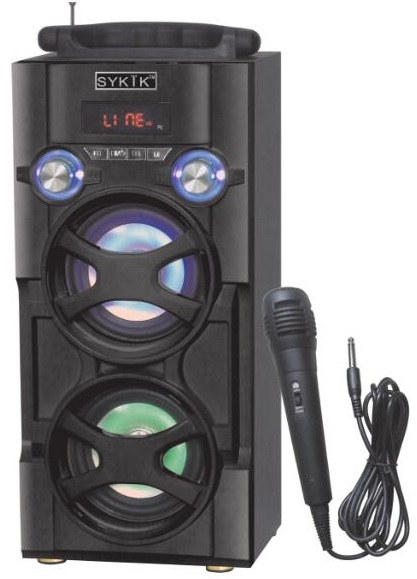 Sykik SP966BT, Bluetooth Karaoke, PA system, Tower speaker, boom