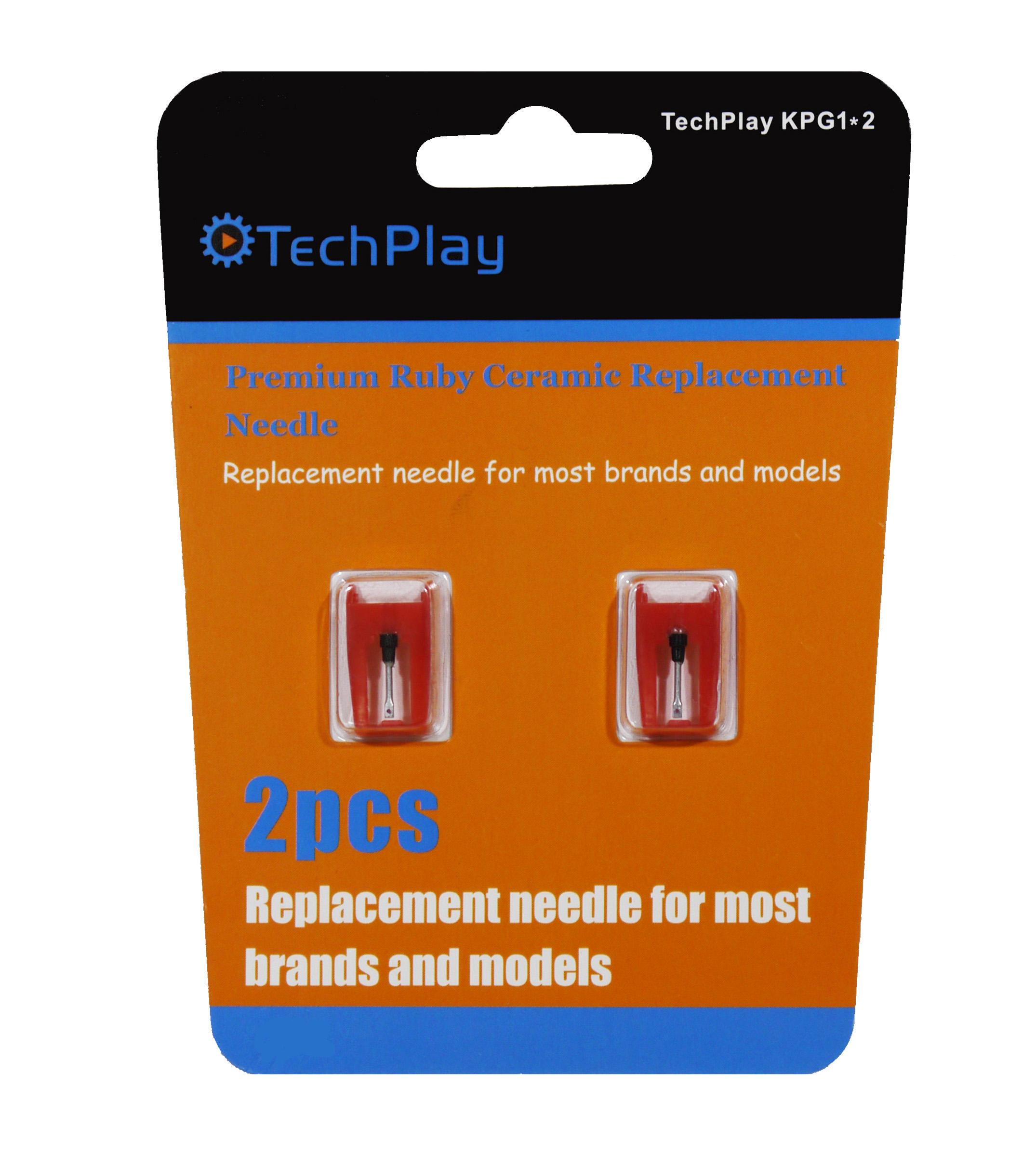 KPG1*2 Pack of 2 Ruby needels for turntable