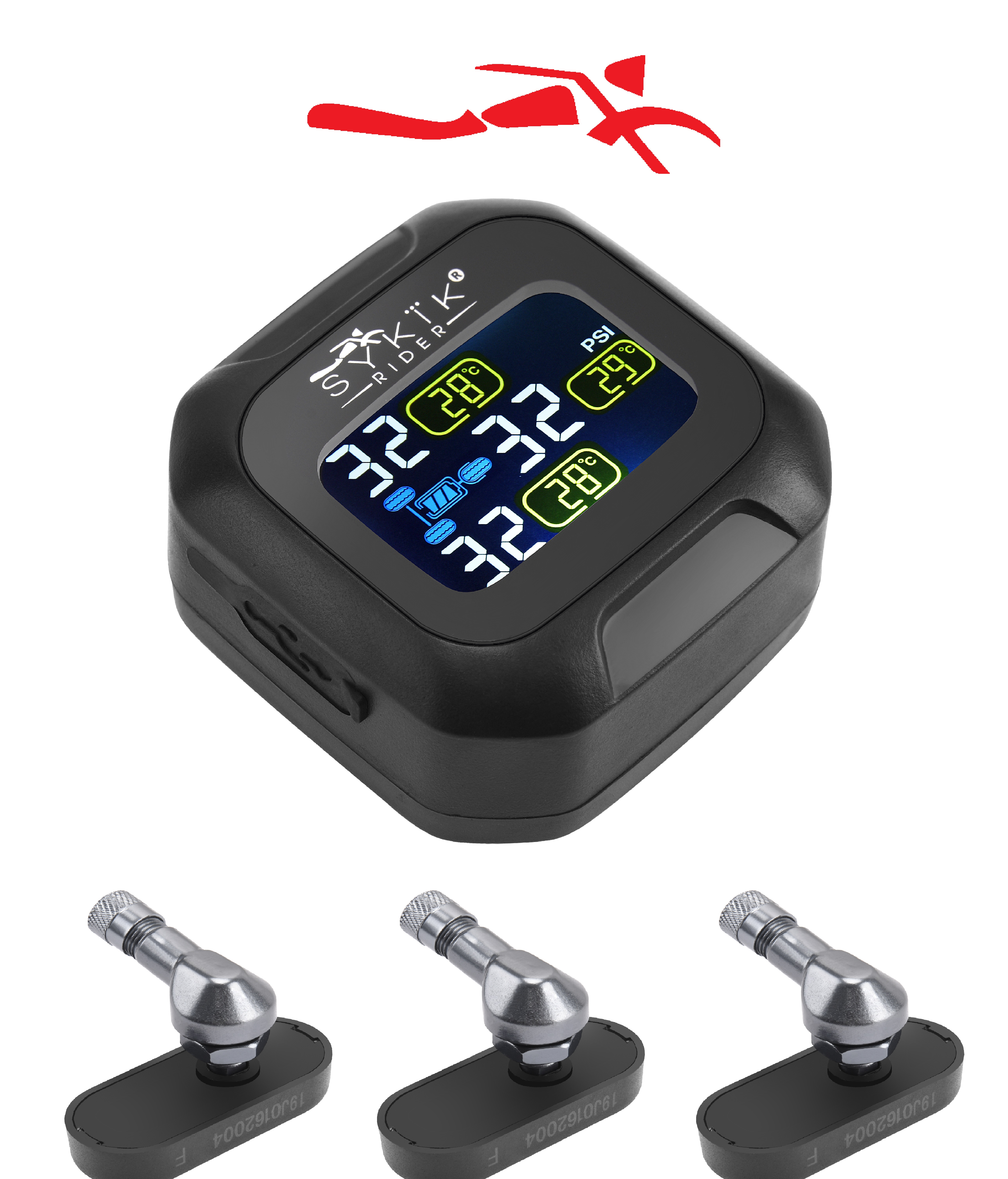 SYKIK Rider SRTP690, tire Pressure Monitoring System for Trikes