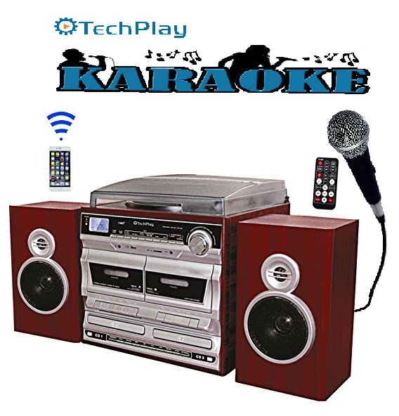 TechPlay ODCRK2110 BT,Karaoke,turntable,W/Dual CD Player/Recorde
