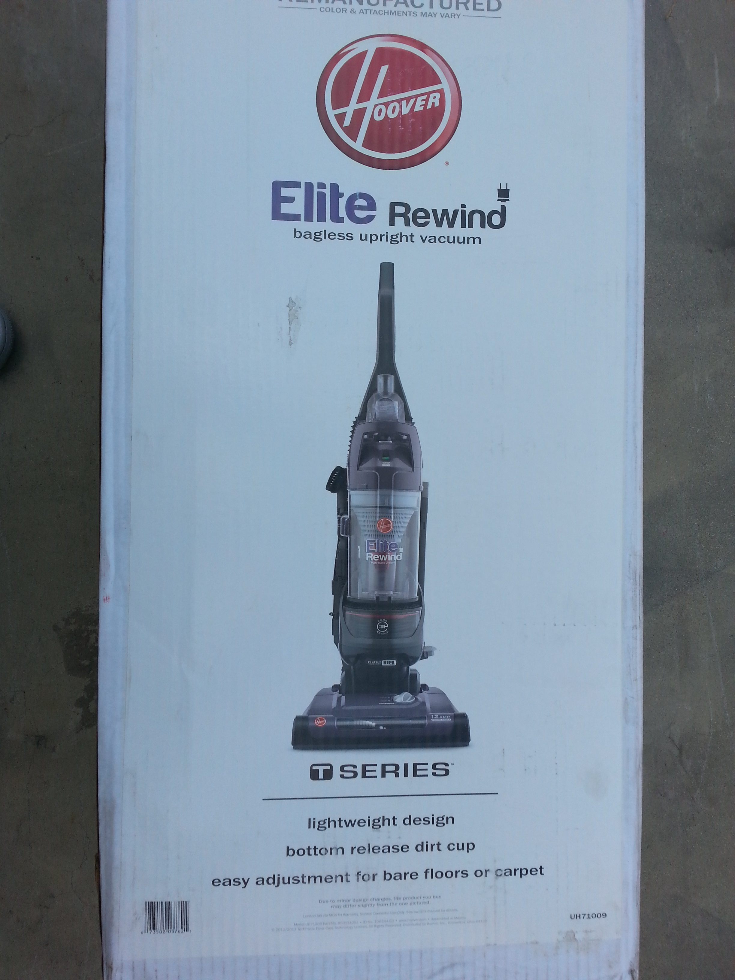 UH71009 RB  ELITE REWIND BAGLESS UPRIGHT VACUUM